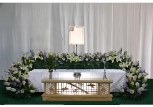 セットプラン シンプル生花祭壇