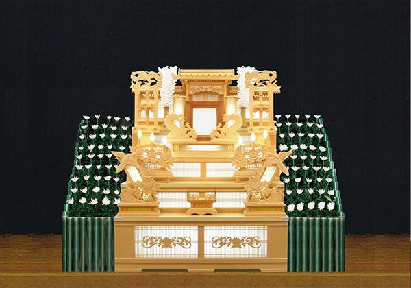 4号白木祭壇