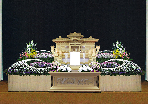 15号白木祭壇